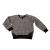 Yellowsub - Βρεφική μπλούζα φούτερ Yellowsub γκρι μαύρη
