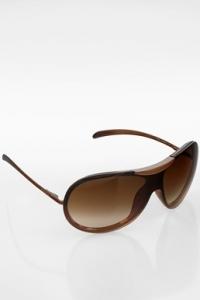 6006 Καφέ Oversize Μάσκα Γυαλιά Ηλίου