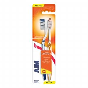 Aim Anti-Plaque Medium Οδοντόβουρτσα