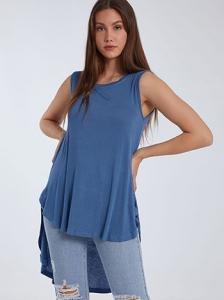 Αμάνικη ασύμμετρη μπλούζα