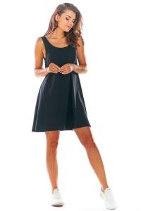 Αμάνικο μίνι φόρεμα - Μαύρο
