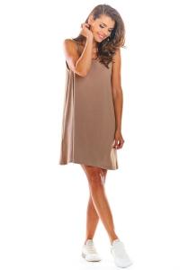 Αμάνικο μίνι φόρεμα - Μπεζ