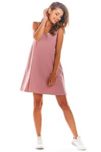 Αμάνικο μίνι φόρεμα - Ροζ