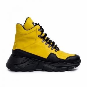 Ανδρικά κίτρινα sneakers Trekking