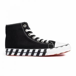 Ανδρικά μαύρα ψηλά sneakers