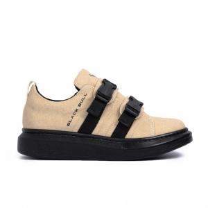 Ανδρικά μπεζ sneakers Black
