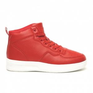 Ανδρικά ψηλά κόκκινα sneakers