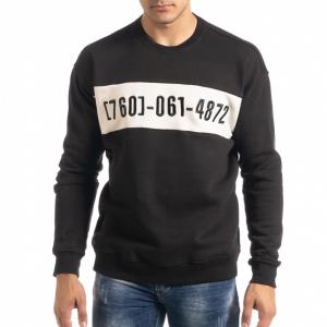 Ανδρική μαύρη μπλούζα τύπου