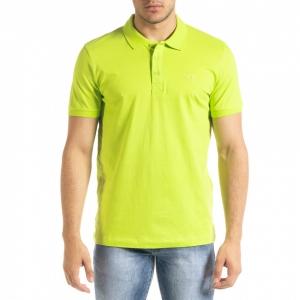 Ανδρική πράσινη πολο Clang