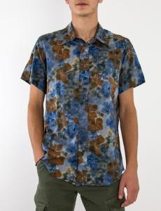 Ανδρικό φλοράλ πουκάμισο κοντομάνικο