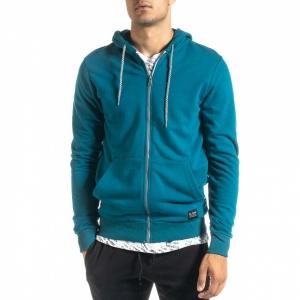 Ανδρικό γαλάζιο φούτερ Basic