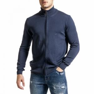 Ανδρικό γαλάζιο πουλόβερ Code