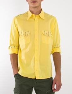 Ανδρικό κίτρινο πουκάμισο