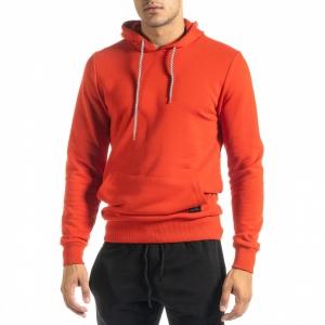 Ανδρικό κόκκινο φούτερ Basic