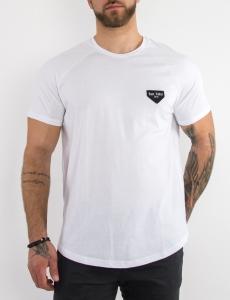 Ανδρικό λευκό βαμβακερό Tshirt