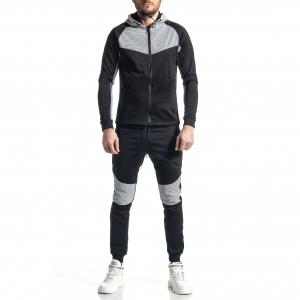Ανδρικό μαύρο αθλητική φόρμα