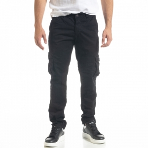 Ανδρικό μαύρο Cargo παντελόνι