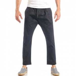 Ανδρικό μαύρο ελεύθερο παντελόνι