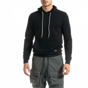 Ανδρικό μαύρο φούτερ Basic