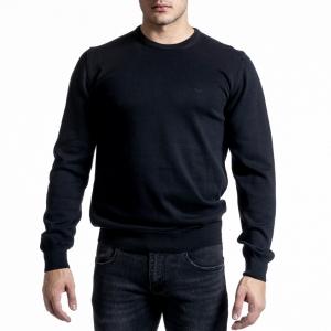 Ανδρικό μαύρο πουλόβερ Code