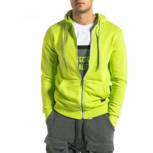 Ανδρικό νέον πράσινο φούτερ