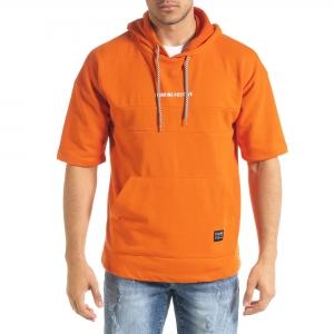 Ανδρικό πορτοκαλί φούτερ Clang