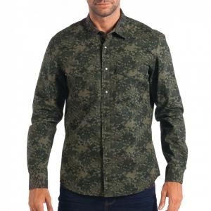 Ανδρικό πράσινο πουκάμισο