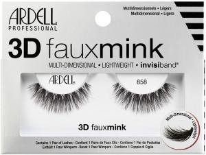 Ardell 3D Faux Mink 858 False Eyelashes Black 1pc