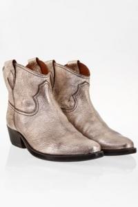 Ασημένια Δερμάτινα Texan Ankle