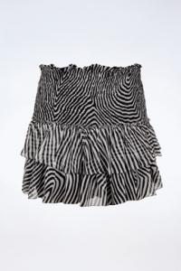 Ασπρόμαυρη Ζεβρέ Mini Φούστα / Μέγεθος: 40 FR - Εφαρμογή: S