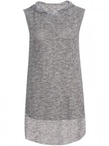 Ασύμμετρη Μπλούζα με Κουκούλα