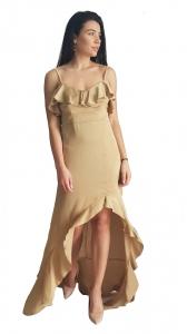 Ασύμμετρο φόρεμα με βολάν