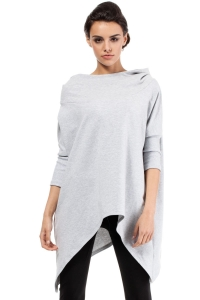 Ασύμμετρο πουλόβερ με κουκούλα