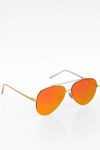 Aviator Μεταλλικά Γυαλιά Ηλίου με Πορτοκαλί Καθρέφτες