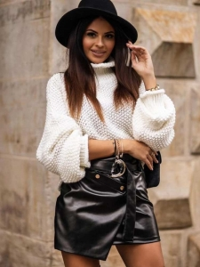 BIG ALICE WHITE KNITTED BLOUSE