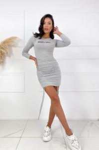 "Bodycon φόρεμα με σούρες ""BB-GIRL"""