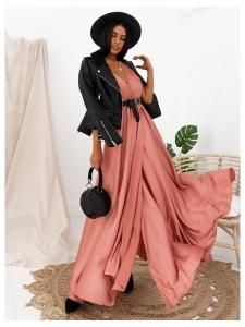 CAMELIA ROSE MAXI SATIN DRESS