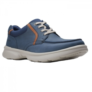CLARKS BRADLEY VIBE NAVY LEATHER