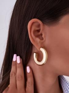 COOKIE GOLD MEDIUM HOOP EARRINGS
