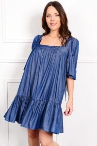 Denim mini φόρεμα ONLINE -