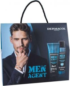 Dermacol Men Agent Gentleman Touch 3in1 Shower Gel 250ml Combo: Shower Gel 250 Ml + Deodorant 150 Ml