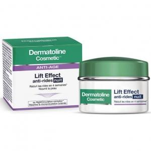 Dermatoline Cosmetic Anti-Age Lift Effect Night Cream Αντιρυτιδική Κρέμα Νύχτας, Μειώνει Ορατά τις Ρυτίδες της Επιδερμίδας 50m
