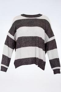 Δίχρωμη Μπλούζα με Μεταλλική Κλωστή / Μέγεθος: S - Εφαρμογή: Κανονική