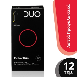 Duo Extra Thin Λεπτό Προφυλακτικό