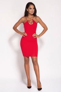 Εφαρμοστό μίνι φόρεμα - Κόκκινο