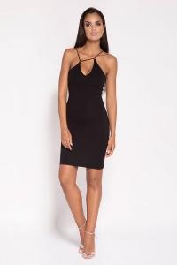 Εφαρμοστό μίνι φόρεμα - Μαύρο