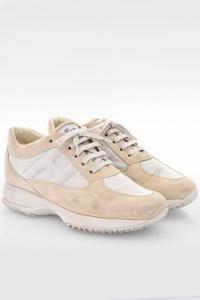 Εκρού Σουέντ Interactive Sneakers με Ασημένιο Μεταλλιζέ Ύφασμα / Μέγεθος: 39 - Εφαρμογή: 40