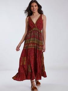 Εμπριμέ κρουαζέ φόρεμα SH9845.8288+4