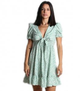 Φλοράλ φόρεμα ksenia με δέσιμο