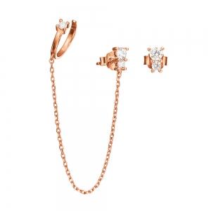 FOLLI FOLLIE - Ασημένια σκουλαρίκια